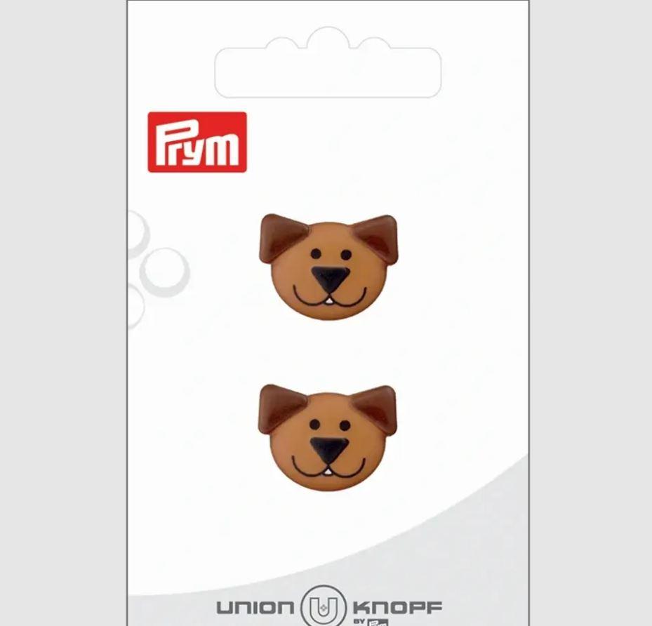 Knopf - Polyesterknopf - Öse - 20mm - Hund - 2 Stück
