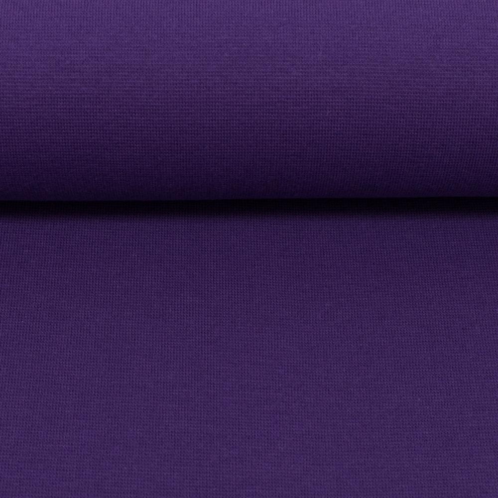 Heike, Schlauchware **Öko-Tex Standard 100**, Bündchen, uni, lila, Extra breit - 100 cm