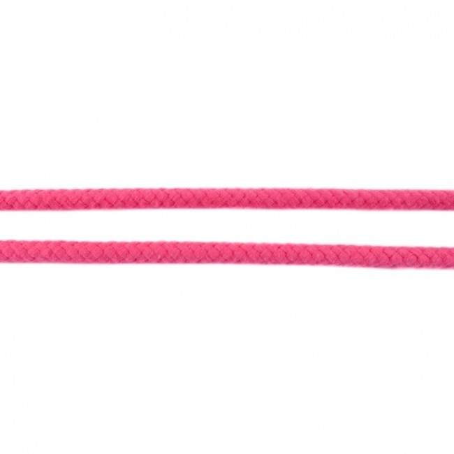 Doppelt gewebte Baumwollkordel - 8mm - Pink