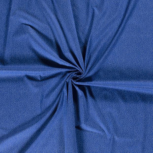 Baumwoll Stoff - Baumwolle - Punkte - Indigoblau