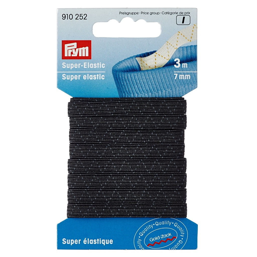 Prym - Super-Elastic 7 mm schwarz - 3 Meter - 910252