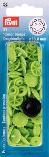 Prym - NF Druckknöpfe Color Snaps Blume 13.6 mm - Apfelgrün