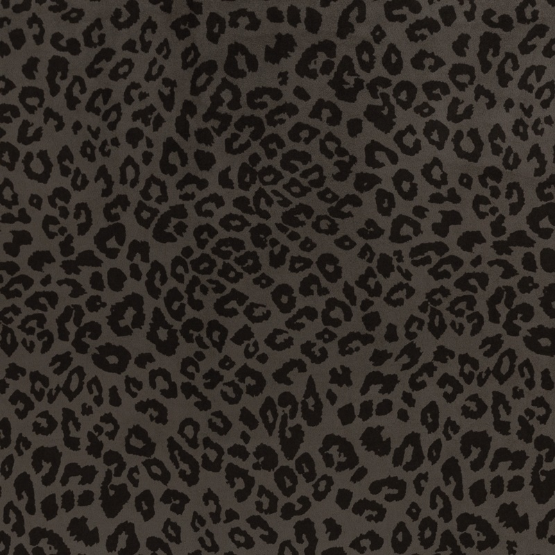 Wildlederimitat - Suede Stretch - Swafing - Clara - Animal Print auf Anthrazit