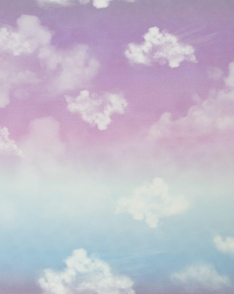 Modal French-Terry - Sommersweat - Swafing - Panel ca. 70cm x 150cm - Cloudy Sky by lycklig design - Farbverlauf Flieder/Blau