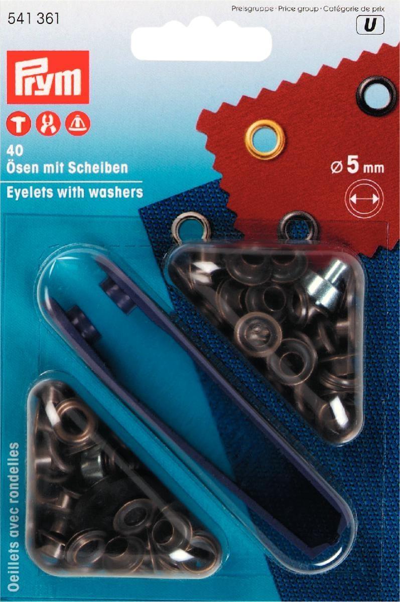 Ösen und Scheiben MS 5,0 mm altmessing