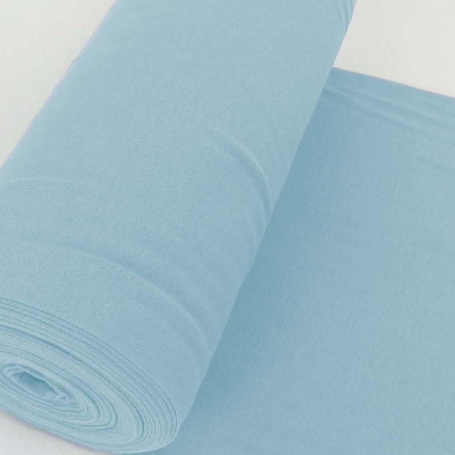 Bündchen Stoff Feinripp Uni - Hellblau