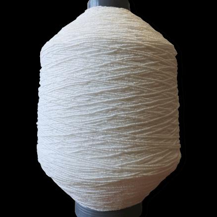 Gummikordel - Elastic Kordel weich und geschmeidig - für Behelfsmasken - Für perfekten Sitz hinter den Ohren - 2 mm weiß - 10 Meter Bündel