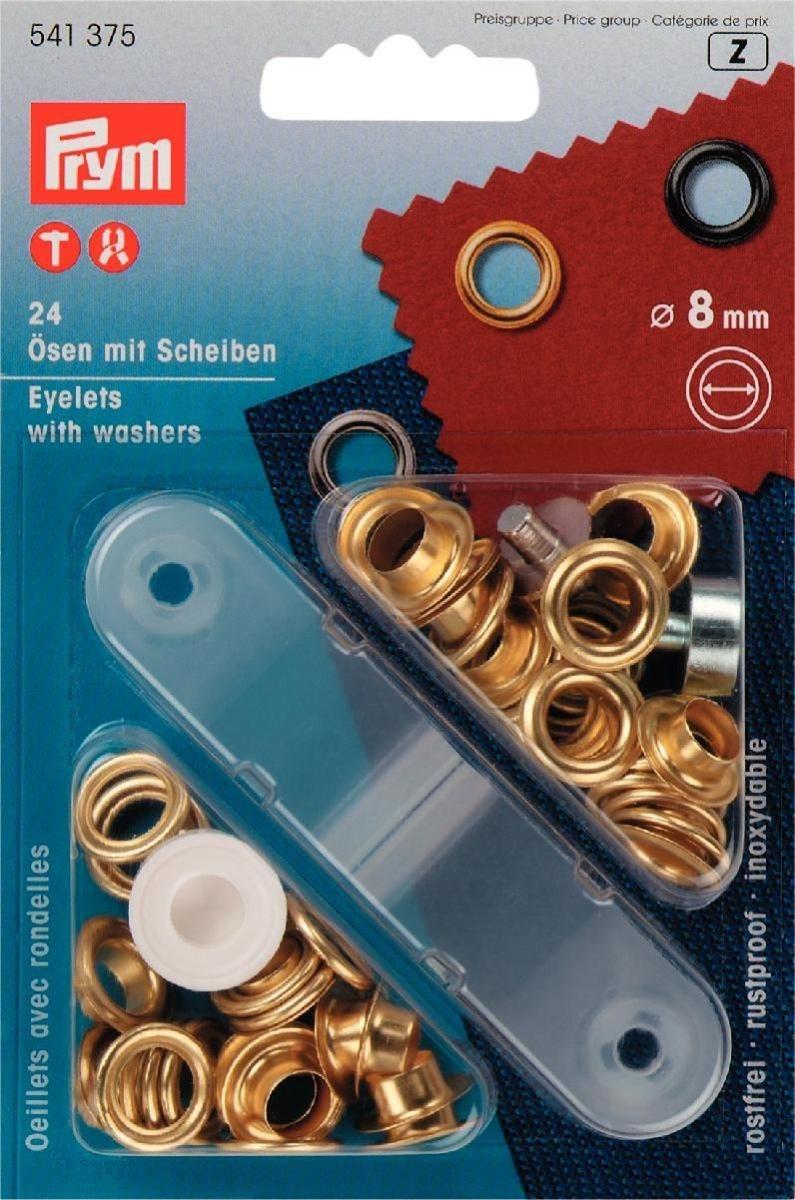 Ösen und Scheiben MS 8,0 mm goldfarbig