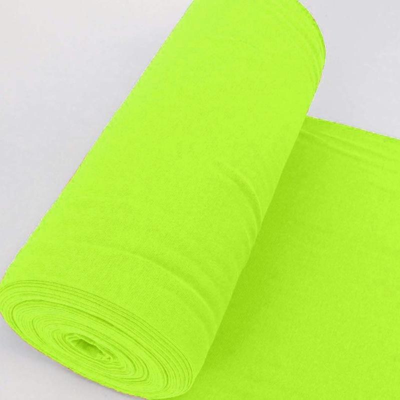 Bündchen Stoff Feinripp Uni - Neon Gelb