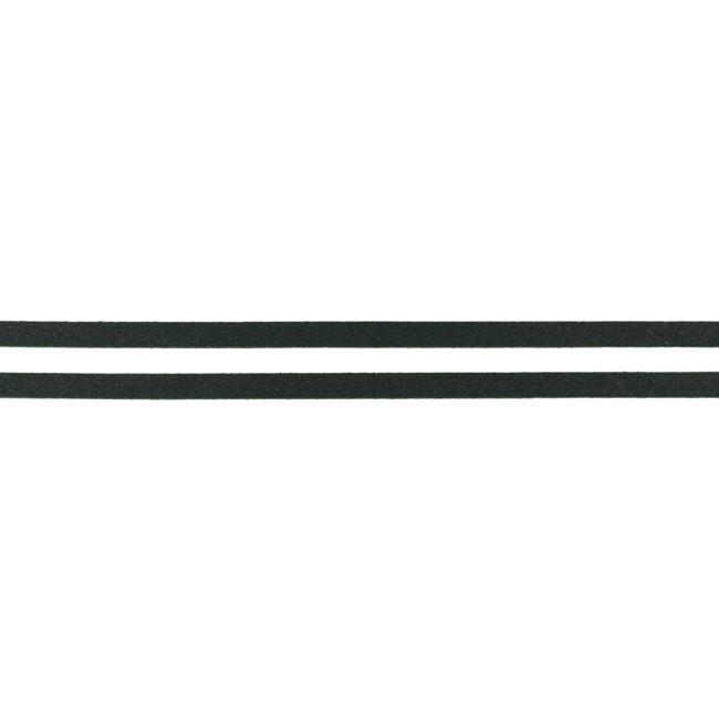 Luxus Wildleder Flachkordel mit Glitzer - Schwarz