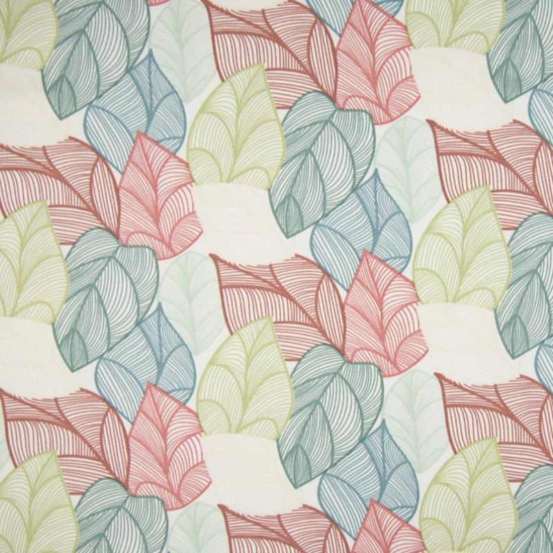 Sommersweat - Organic French Terry - Organic - Blätter auf Ecru