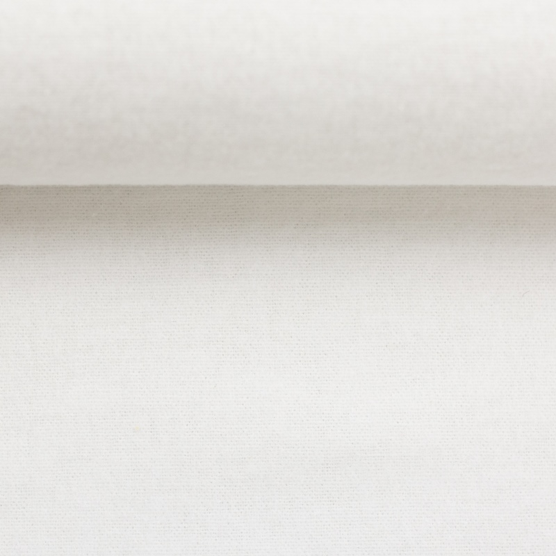 Molton *210* - Restschrumpfung ca. 5 % - Molton - Uni - Weiß