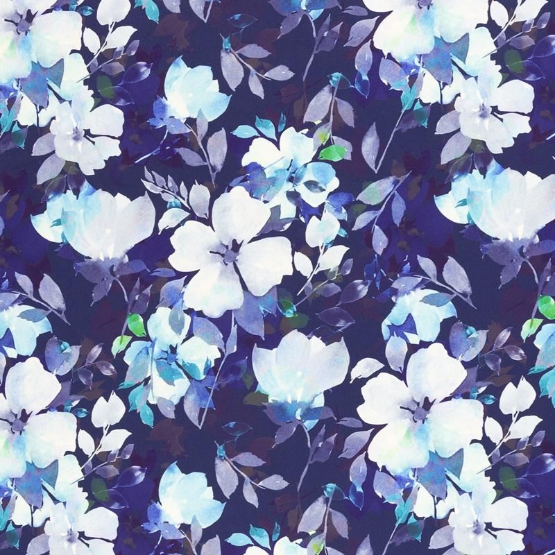 Softshell - Motiv Softshell - Swafing - Fiete - Blaue Blumen
