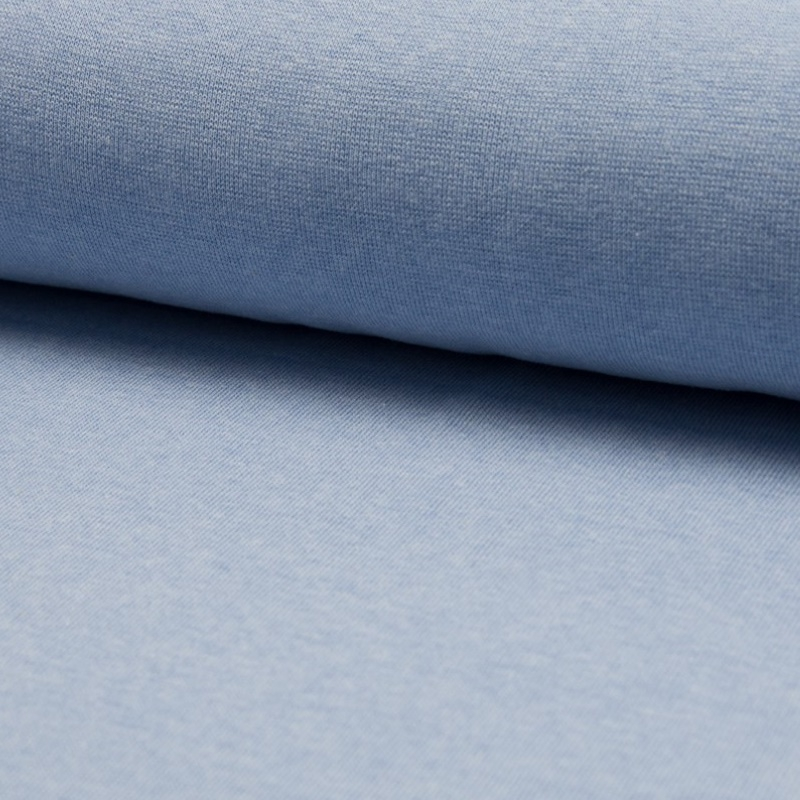 Bündchen Feinripp Melange - Hellblau
