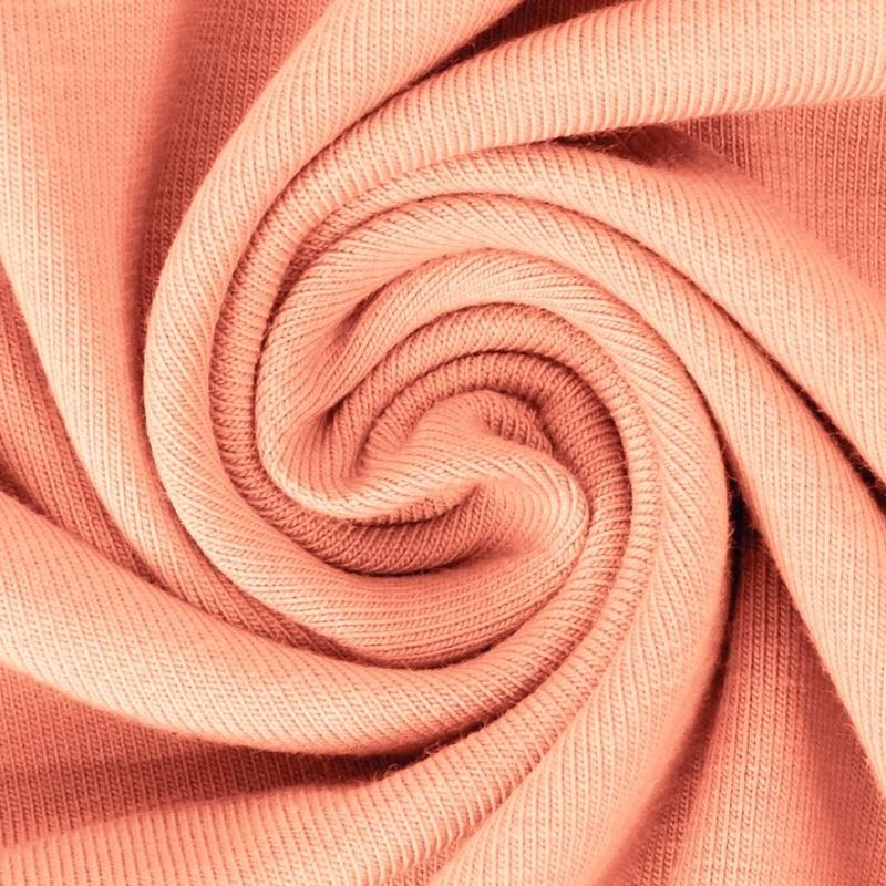 Baumwolljersey - Jersey Stoff Uni - New Fashion Color - Pastell - Koralle