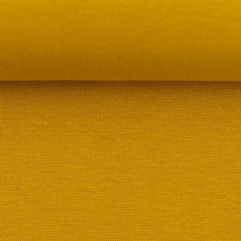 Heike, Schlauchware **Öko-Tex Standard 100**, Bündchen, uni, Senfgelb