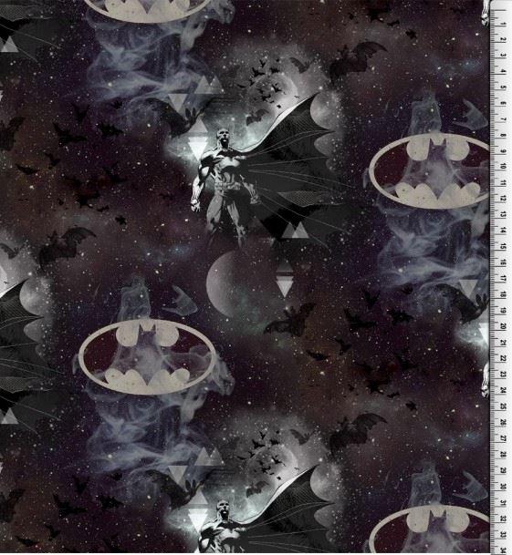 Baumwolljersey - Motivjersey - Lizenz - Batman im Galaxy Print