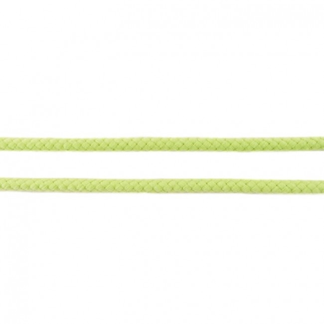Doppelt gewebte Baumwollkordel - 8mm - Hellgrün