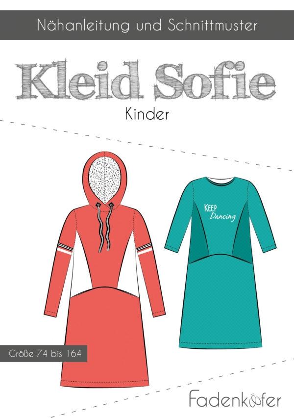 Papierschnittmuster Fadenkäfer - Papierschnittmuster Kleid Sofie Kinder - Größe 74 bis 164