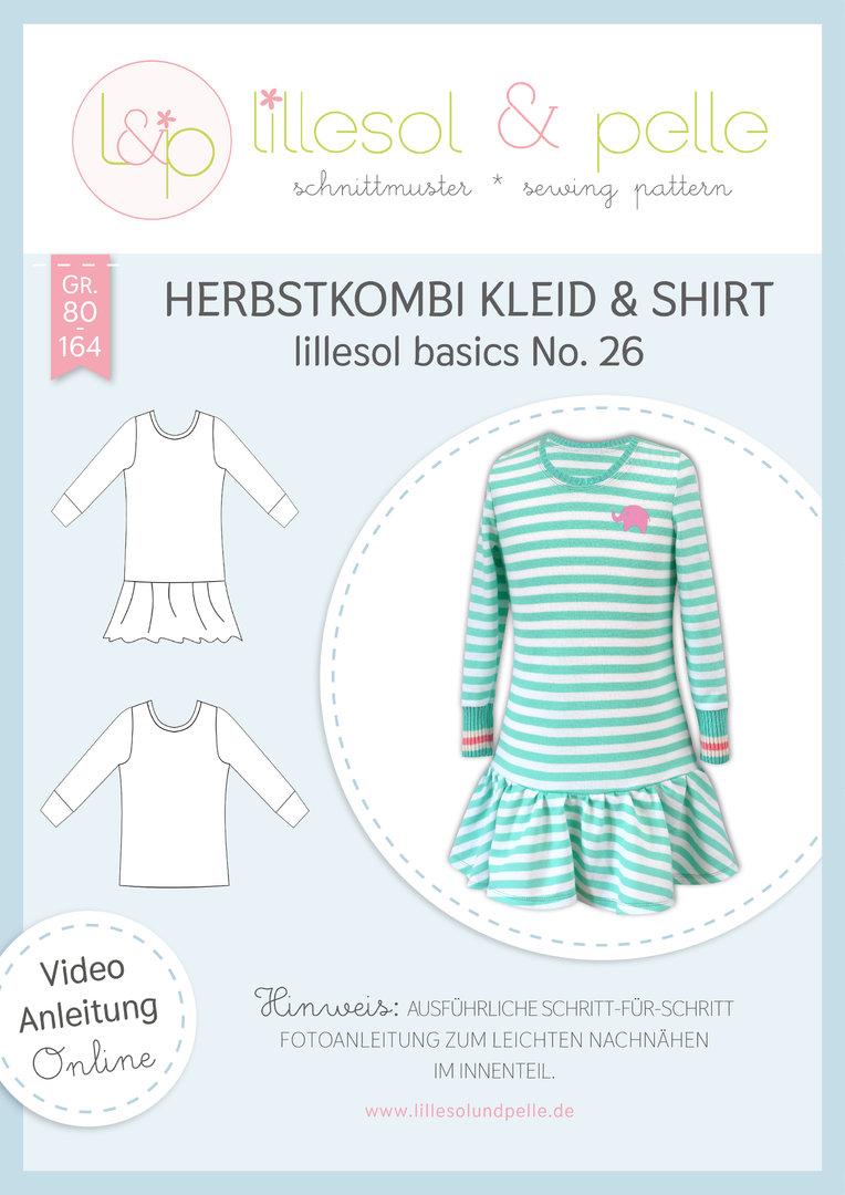 Papierschnittmuster lillesol basics No.26 Herbstkombi Kleid & Shirt