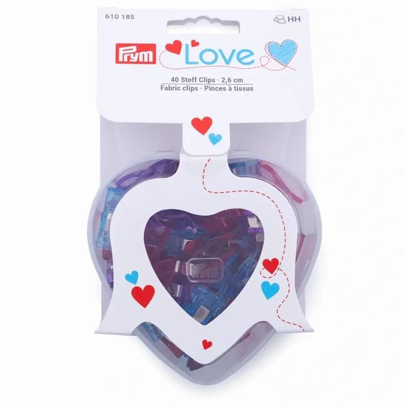 Prym - Love - Stoffclips in Herzbox - 40 Stück - 2,6cm - 610185
