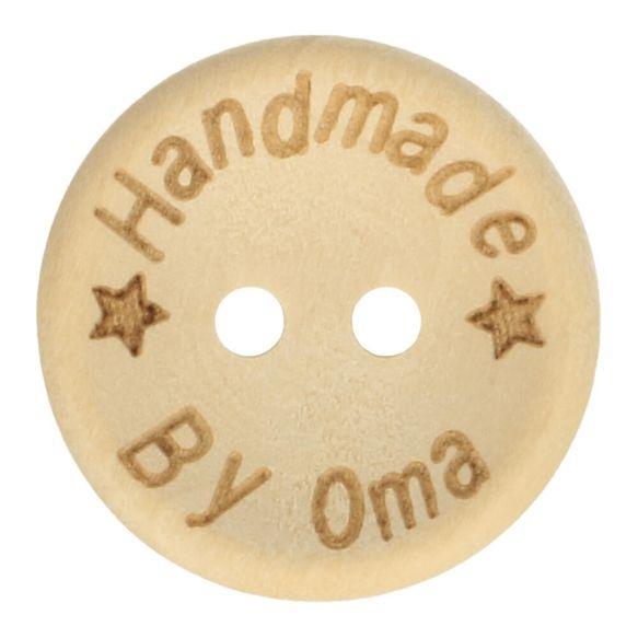 Knopf - Holzknopf - 2-Loch - 32mm - Handmade by Oma
