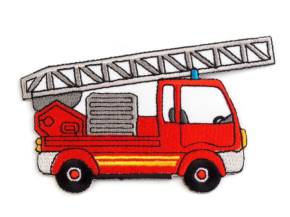Aufbügler - Patch - Patches - Feuerwehrauto -10,2cm x 5,9cm