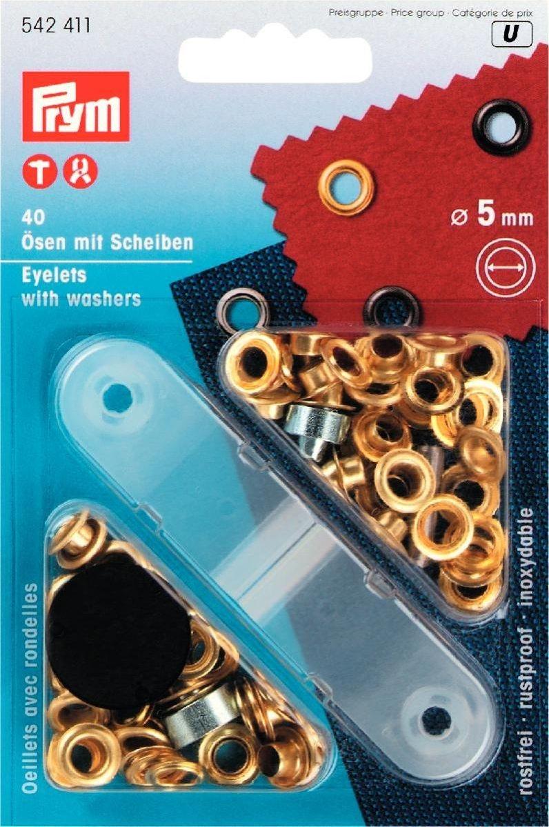 Ösen und Scheiben MS 5,0 mm goldfarbig