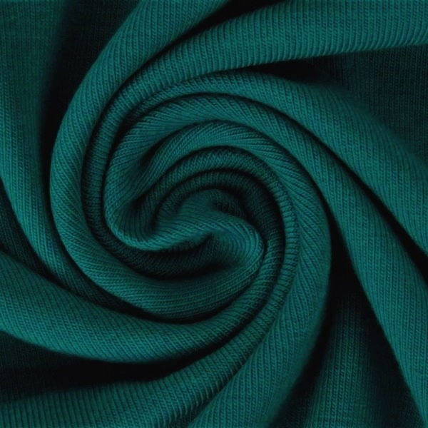 Ganzjahressweat Stoff - Sweat - angeraut - Smaragd