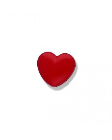 Knopf - Knöpfe - rotes Herzchen - 15mm - 1 Stück
