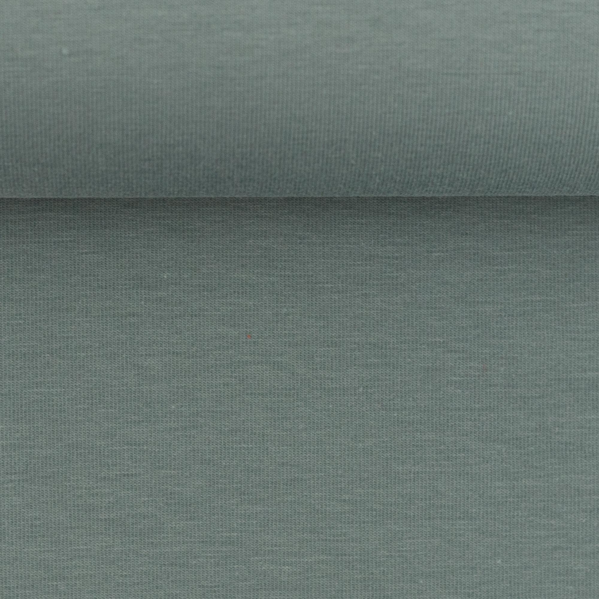 Baumwoll Jersey - Jersey Stoff - Swafing - Vanessa - Uni - Graugrün