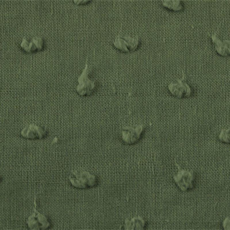 Baumwolle - Baumwollstoff - Webware - Dobby - Knötchen - Khaki