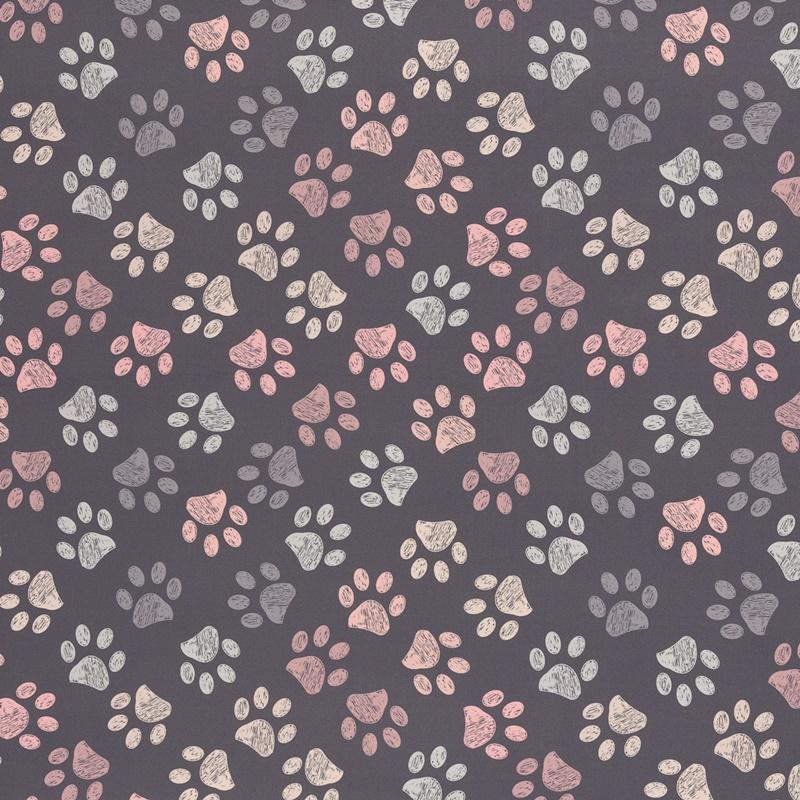 Softshell - Motiv Softshell - Swafing - Fiete - Pfoten auf Grau