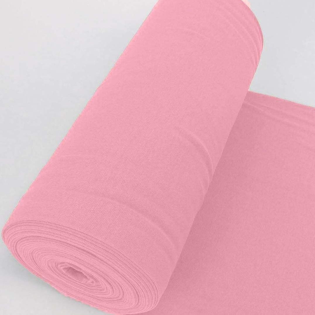 Bündchen Stoff Feinripp Uni - Rosa