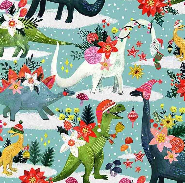 Patchwork Baumwolle - Stella - Weihnachtsdinos