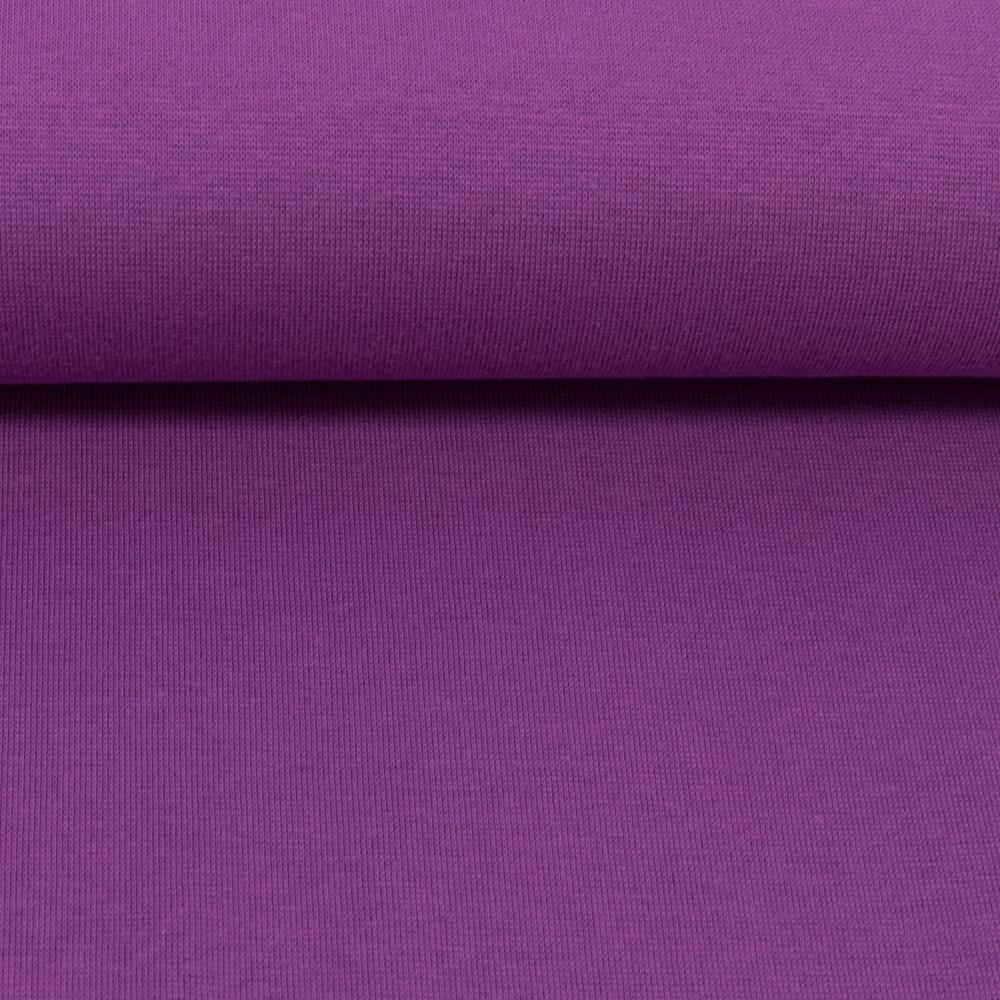 Heike, Schlauchware **Öko-Tex Standard 100**, Bündchen, uni, lila
