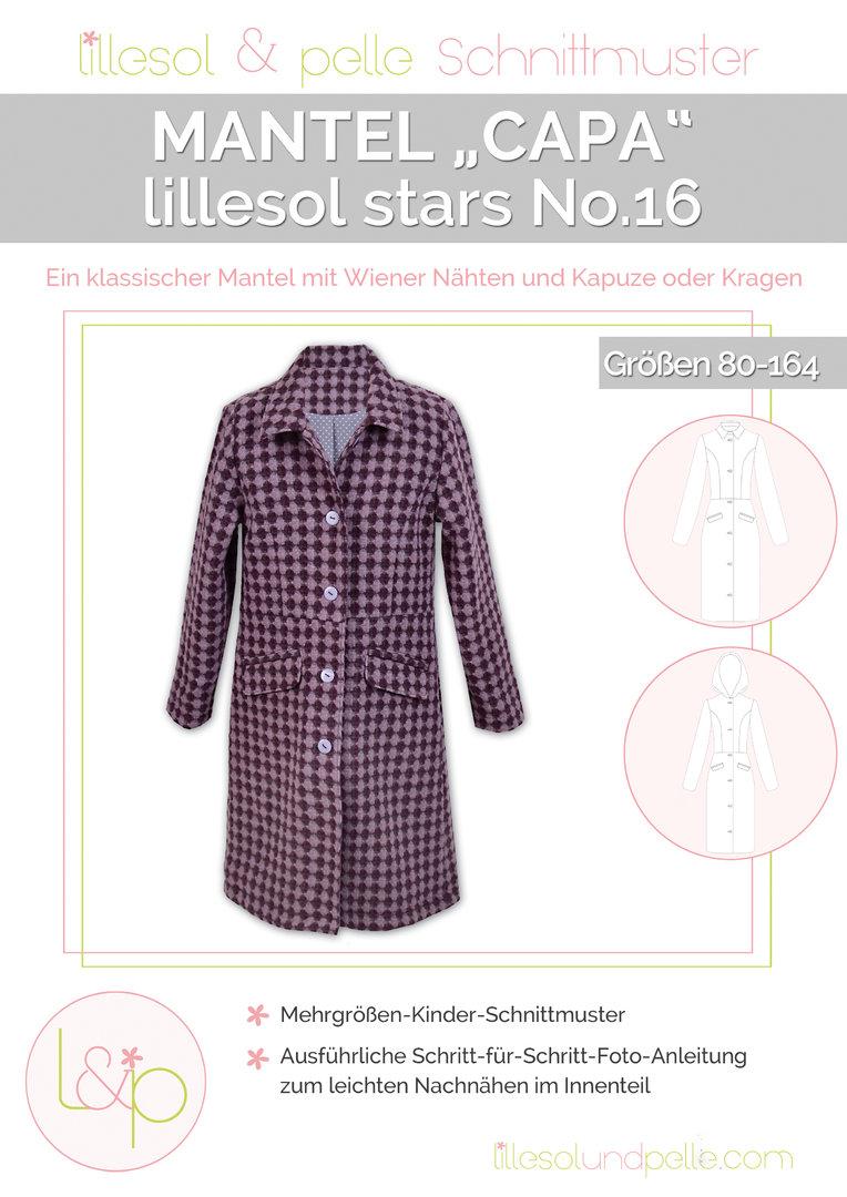 "Papierschnittmuster lillesol stars No.16 Mantel ""Capa"""
