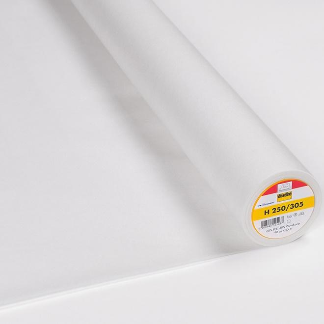 Vlieseline - Bügeleinlage Softline H250 fixierbar - Breite 90 cm weiß