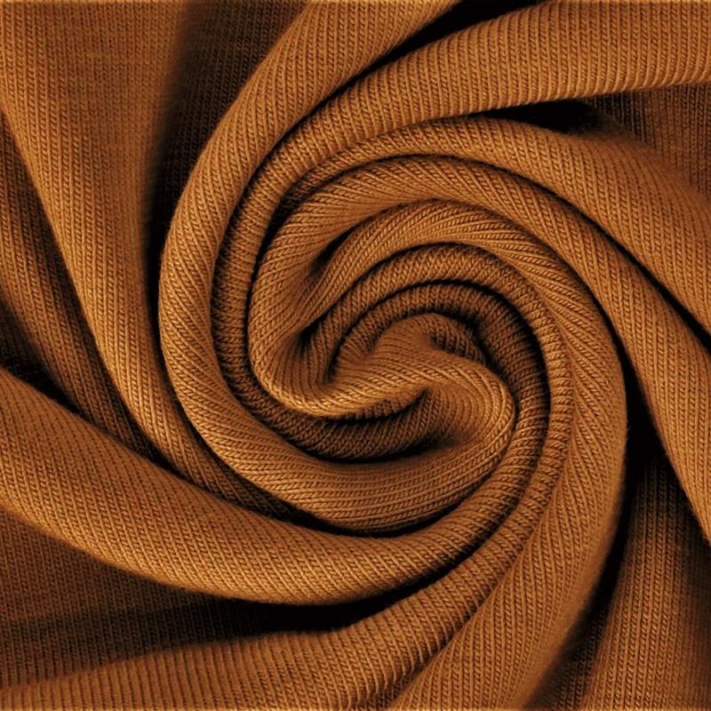 Baumwolljersey - Jersey Stoff Uni - New Fashion Color - Pastell - Karamell