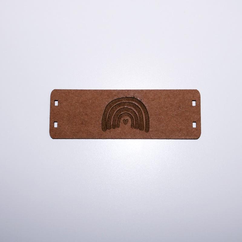 Schnuckidu  - Label zum Annähen - SnapPap - Regenbogen