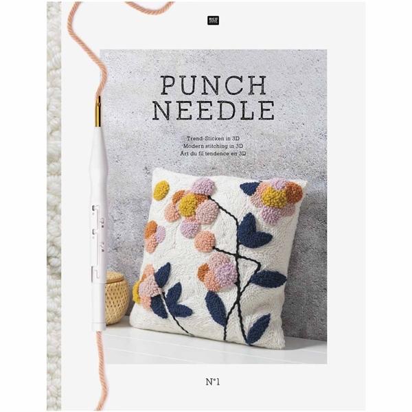 Rico Design - Punch Needle Buch No.1 - Trend Sticken in 3D