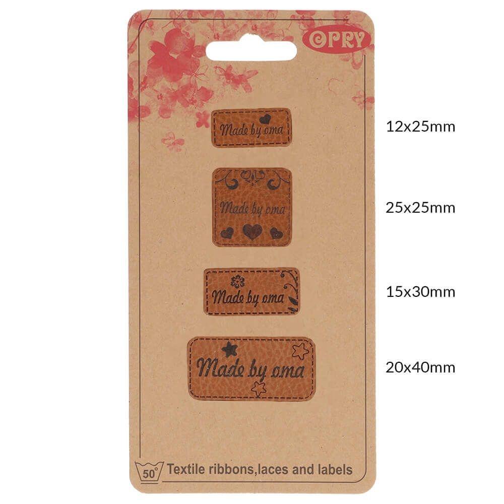 OPRY - Handmade Label - Kunstleder Label - Made by Oma