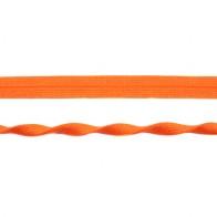 Einfassband elastisch Jaquard 20 mm - Orange glänzend