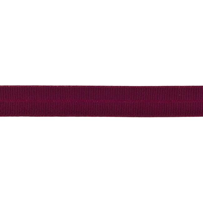 Elastisches Einfassband matt - Bordeaux