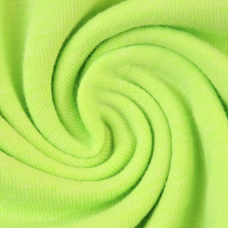 Baumwolljersey - Jersey Stoff Uni - Neon - Gelb