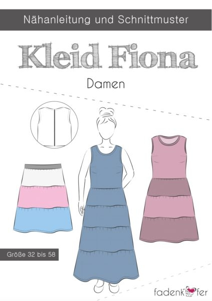 Papierschnittmuster Fadenkäfer - Kleid Fiona - Damen