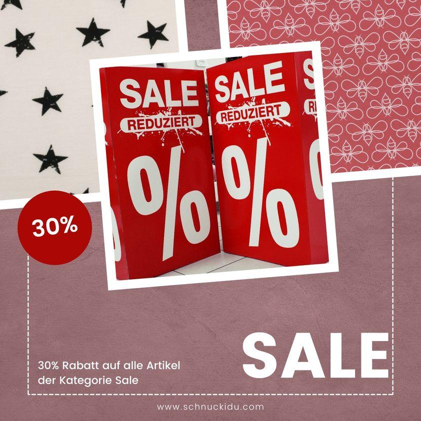 30% Rabatt auf alle Stoffe im Sale! 😍