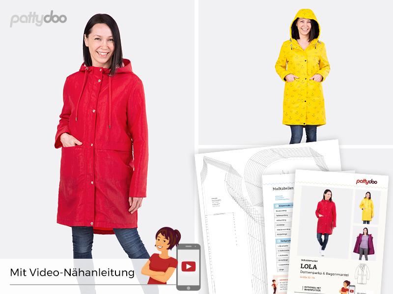 Pattydoo - Schnittmuster Lola - Damen Parka und Regenmantel