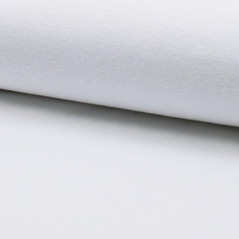 Bündchen Stoff Feinripp Uni - Weiß