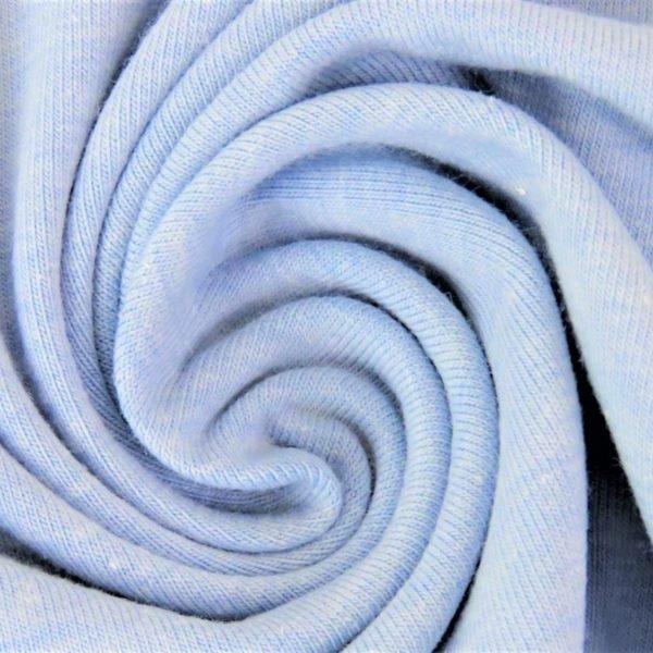 Baumwolljersey Melange - Jersey Stoff Uni meliert - Hellblau meliert